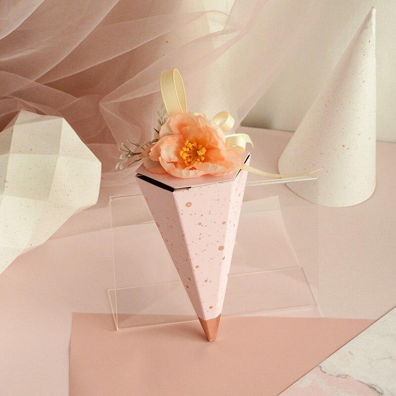 Европейская романтическая модная конфетная коробка с мороженым Сакура розовая с цветком шоколадная коробка свадебные сувениры и подарки к