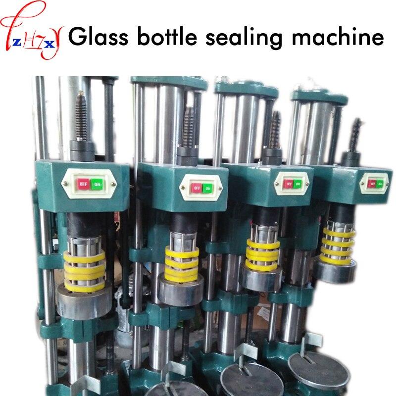 Стекло бутылки запайки полуавтоматическая укупорочные машины укупорочные saeling машина 220/380 В 1 шт.
