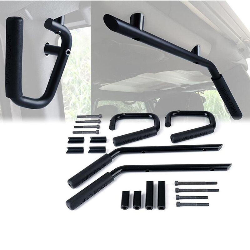 for Jeep Wrangler JK 2007 2018 Front Rear Black Seat Grab Handles Grab Bars 2 & 4 Door Front Grab Handles Accessories