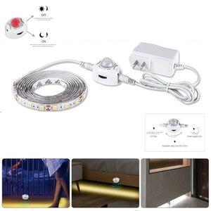 1-5M LED Cabinet Light Motion Sensor DC12V 2835 SMD LED Strip lamp with 12V 1A 2A 3A Power supply(China)