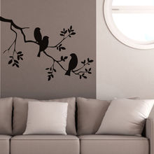 Birds On The Tree Branch Wall Stickers 57X85cm Vinyl Wall Art Decals Quotes Custom Color Wall Tattoo Stickers muraux SA060B