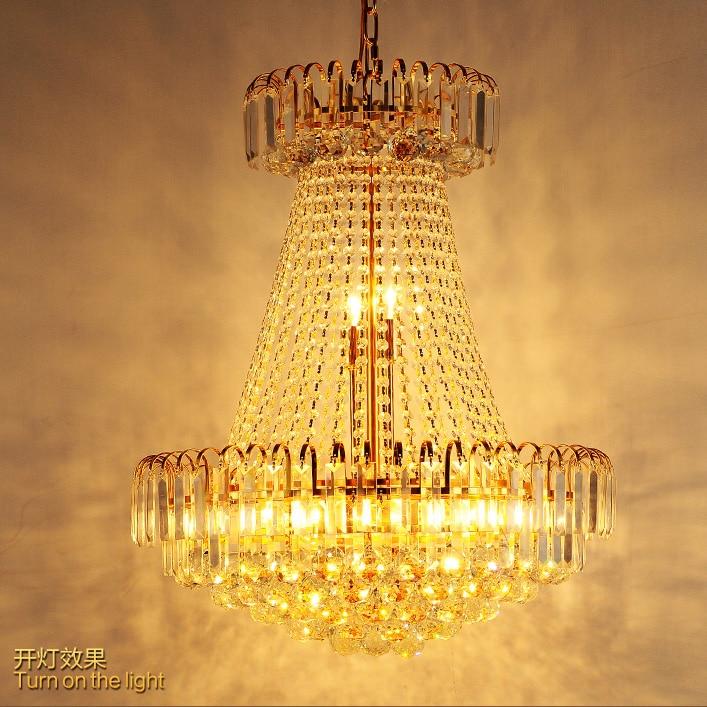 Zlatni kristalni luster Moderni kristalni lusteri Svjetla - Unutarnja rasvjeta - Foto 3