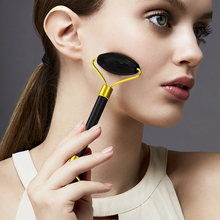 5Pcs/lot Natural Obsidian Facial Eye Beauty Roller Neck Slim Massage Face-lifting Relaxation Massager Tools Wholesale