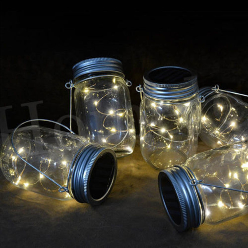 Mode 1 M/2 M LED Fairy Licht Pot Deksel Verlichting Kleur ...