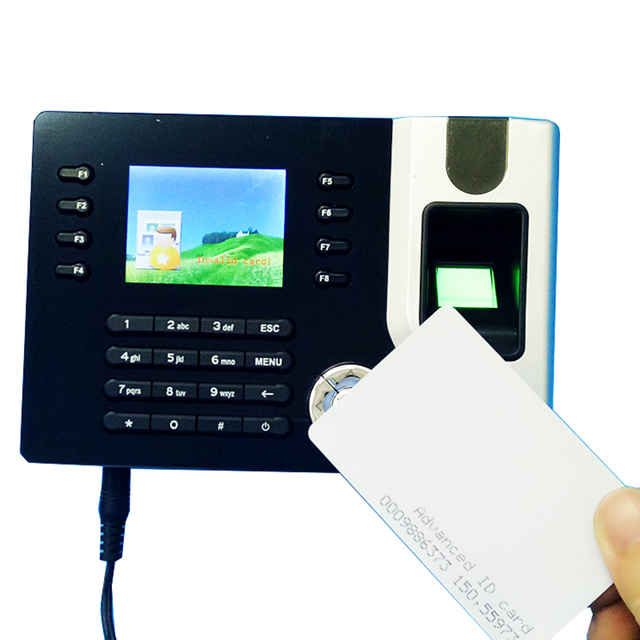 US $74 9 |TCP/IP Biometric Fingerprint & Rfid Card Time Clock Recorder  Attendance Employee Electronic Punch Card Reader Machine Realand-in  Electric