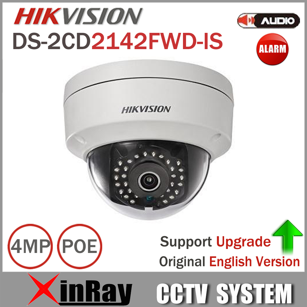 Hikvision Security Camera DS-2CD2142FWD-IS 4MP POE IP Camera Day/night CCTV IP Camera With Audio and Alarms Interface 8pcs/lot 8mp ip camera cctv video surveillance security poe ds 2cd2085fwd is audio for hikvision dahua dvr hik connect ivm4200 camcorder
