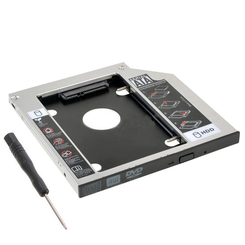 9.5mm SATA 2nd SSD HDD Caddy for Hp Probook 640 645 650 655 G0 G1 G2 240 G2 242 G2 Hard Disk Drive Caddy()