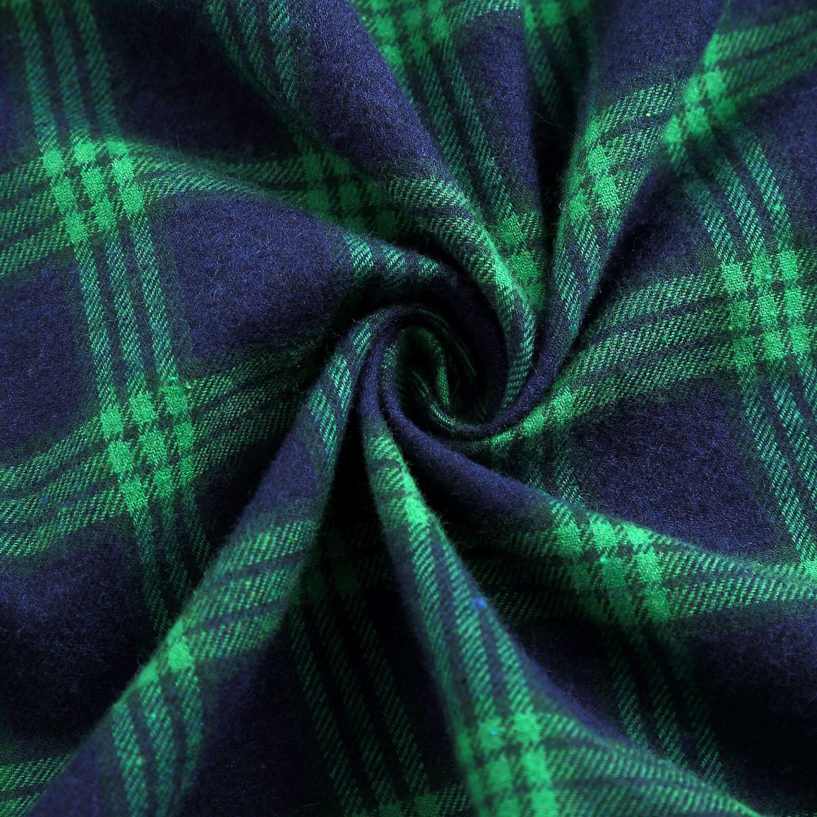 Women Girl High Waist Tartan Winter Cotton A Line Midi Short Plaids Checks Skirt