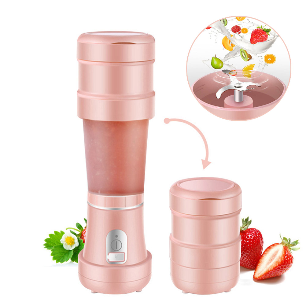 Electric Juicer Cup Durable Silicone Telescopic Portable Travel Juice Bottle TB Sale