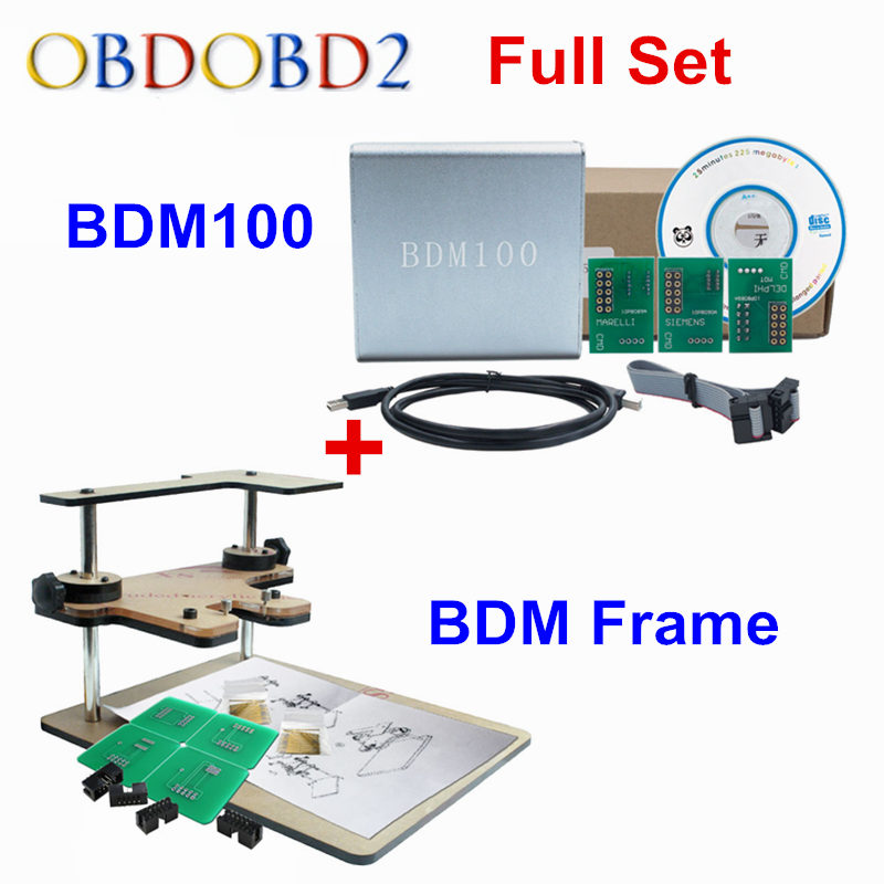 Big Discount BDM Frame + BDM100 Programmer OBD2 OBDII ECU Chip Tuning Tool BDM 100 V1255 Diagnostic Tool For Multi Brand Cars galletto 1260 obdii eobd ecu remap diagnostic chip flashing cable