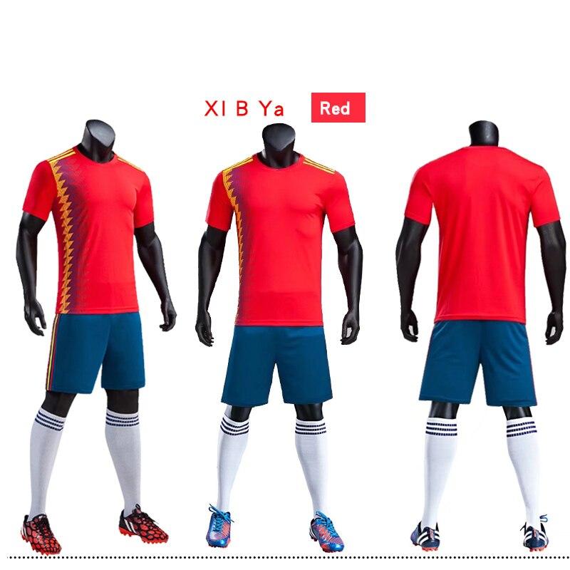 45807f8f5b3 2018 Football Match Sportswear Adult Kids Football Team Custom Soccer  Jerseys Soccer Training youth kits Football Uniforms -in Soccer Sets from  Sports ...