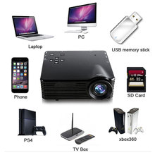 Mini Projector Portable LED Projector1920X1080 HD Pixels USB AV VGA HDMI SD Multimedia Port US Plug