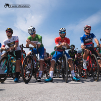 Santic Men Cycling Short Jersey UCI Worldtour Tour of GuangXi Honor Collar Cycling Jerseys Red Blue Green White Asia S XL C02135
