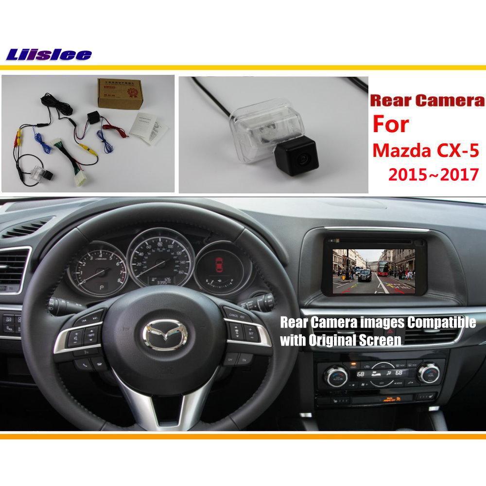 Liislee Voiture Rétroviseur Caméra de Recul Reliant Écran D'origine Pour Mazda CX-5 CX 5 CX5 2015 2016 2017 De Stationnement de Vue Arrière caméra
