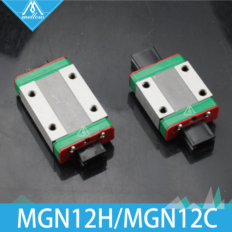 3D Printer Part Kossel Mini MGN12H/C Linear Bearing Block Sliding Carriage For CNC X Y Z Axis 12mm Linear Guide MGN12 L Rail