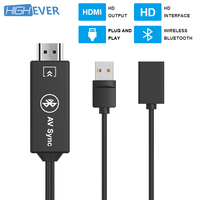 HIGHEVER Multiple HDMI Cable USB to Bluetooth HDMI Adapter Converter 1080P Audio Adapter for MacBook Xiaomi Huawei Samsung