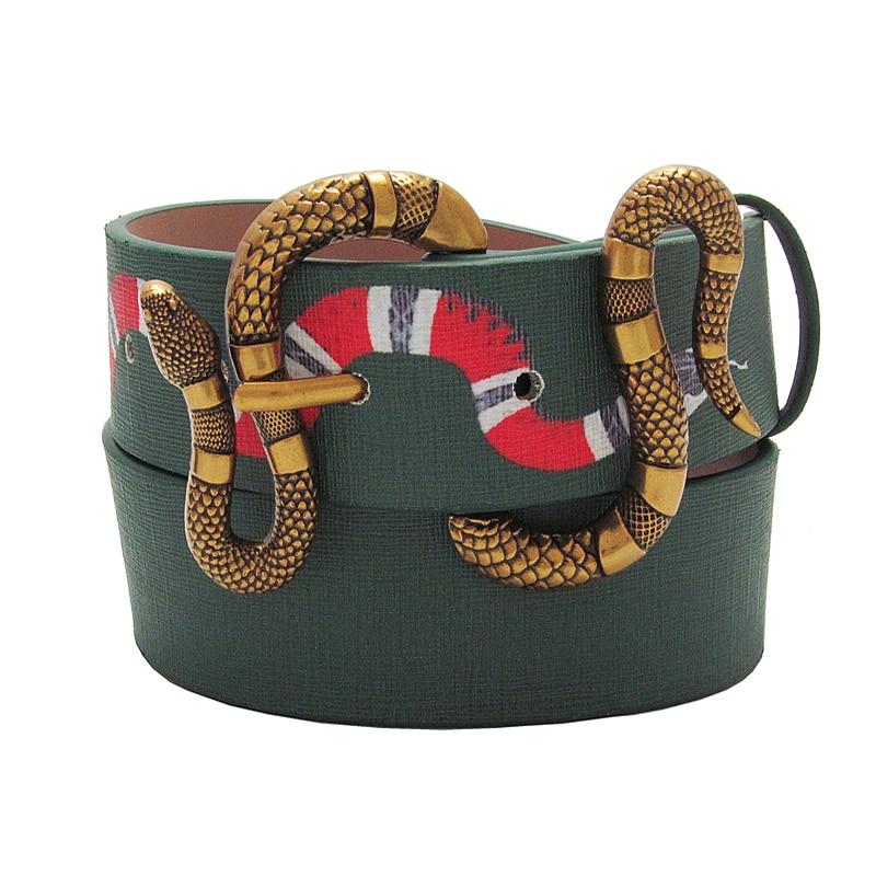 Western new style men leather belt fashion snake pin buckle leisure popular strap young men belt
