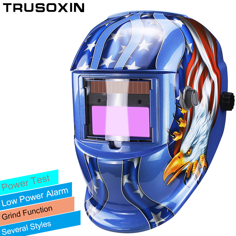 Solar LI battery automatic darkening TIG MIG MMA MAG KR KC electric welding mask/helmets/welder cap for welding machine(China)