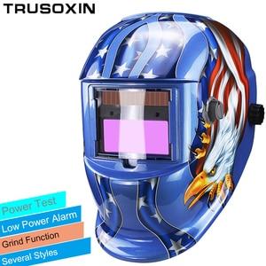 Solar LI battery automatic darkening TIG MIG MMA MAG KR KC electric welding mask/helmets/welder cap for welding machine(China)