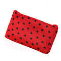 MH006 women Cosmetic Cases 18.5*11cm Fashion Ms. Clutch Korea cute wash satin pouch handbag bag printing love package