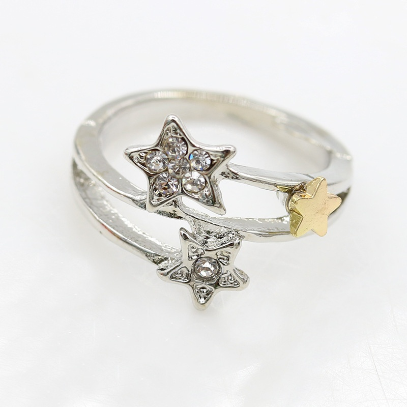new k450 Fashion Jewelry Korean Meteor shower ring five-pointed star ring female fashion jewelry wholesale for rings for women