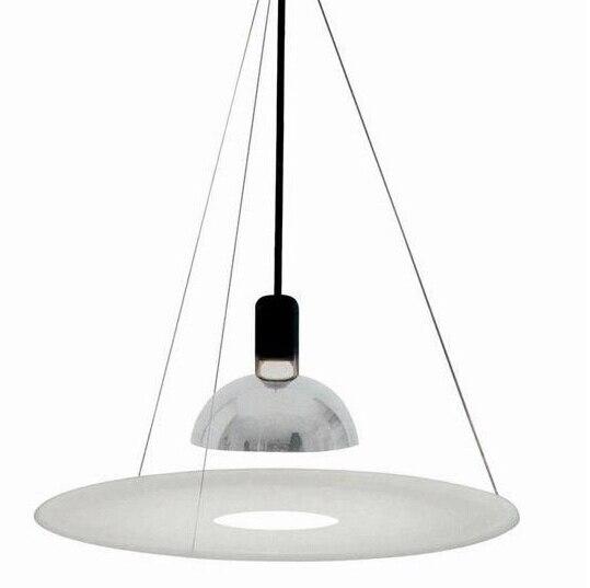 frisbi pendant lamp acryl carbon steel novel suspension led e27 pendant lighting designed by achille castiglioni