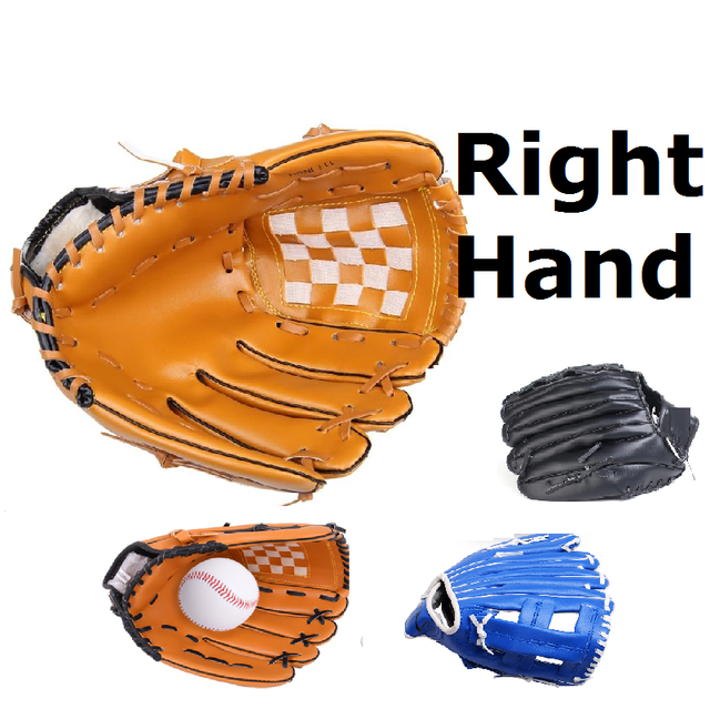 Right hand Male Baseball Glove Female Professional Glove Left Hand Outdoor Sports Racing Gloves Child10.5/Teenage11.5/Adult12.5