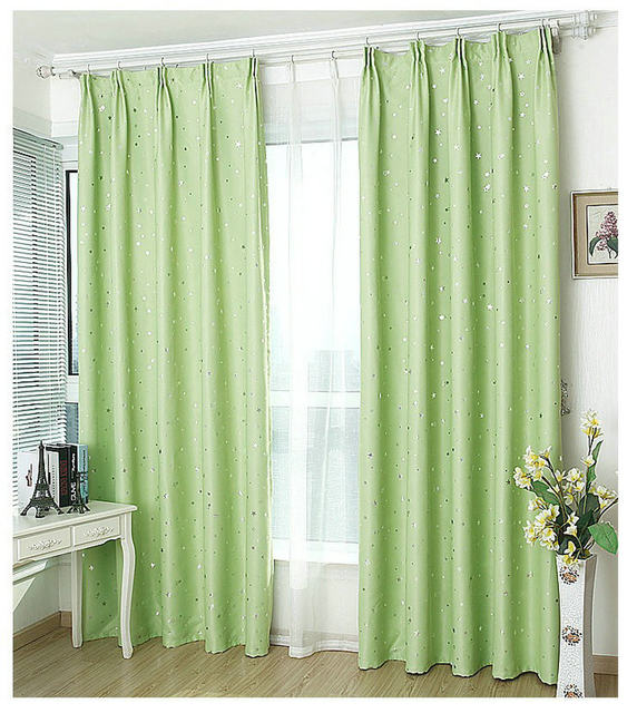 dining room window curtains wide window window curtains solid color stars pattern finished products blackout for dining roomkitchen pink beige navy online shop