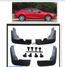 Anteriore Posteriore Mud stampato Flap Per Mazda 3 (BM) axela 4-Porte Berlina 2014-2017 Paraspruzzi Paraspruzzi Mud Flap Parafanghi 2015 2016