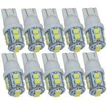 Safego 10 Chiếc LED Xe Hơi T10 W5W 168 194 1210 3528 10 SMD Nội Thất Ô Tô Tín Hiệu Đèn Đuôi Nêm 12V DC 6000K