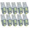 Safego, 10 Uds., luz LED para coche T10 W5W 168 194 1210 3528 10 SMD, lámpara de señal Interior automática, Bombilla de cuña trasera, 12V DC 6000K, blanco