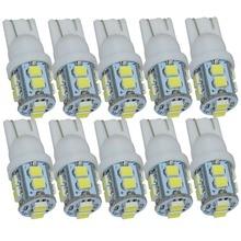 Safego 10 pièces Voiture LUMIÈRE LED T10 W5W 168 194 1210 3528 10 SMD Intérieure AUTOMATIQUE Signal Lampe Queue Cale Ampoule 12V DC 6000K BLANC