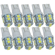 цена на 10 pcs Free Shipping + Wholesale + Car Led Light+ T10 W5W 168 194 10 1210 SMD LED Bulb Lamp White Color T10-10 smd-1210(3528)