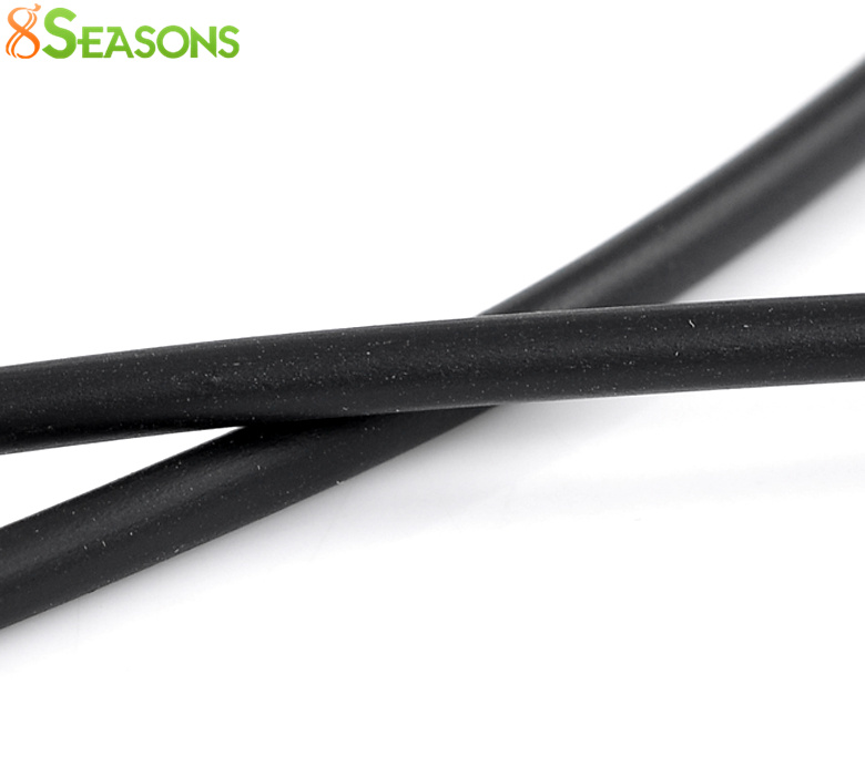 8SEASONS Rubber Cord Black Hollow 4mm Dia,10M Length (B22289) 10pcs lot 4mm dia 30mm length 90