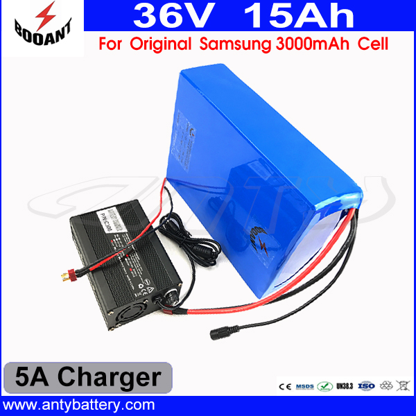 US EU Free Tax Electric Bike Battery 36V 15AH For Bafang Motor 500W With Original 18650 Cell 5A Charger Lithium ion Battery 36V us eu free customs duty lithium 48v 1000w e bike battery 48v 17ah for original panasonic 18650 cell with 5a charger 30a bms