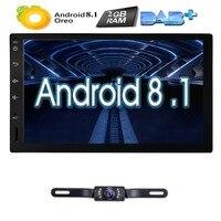 4 ядра чистый андроид 8,1 автомагнитолы автомобиля без dvd плеер Планшетные ПК двойной 2din 7 ''gps навигации головное устройство Bluetooth SWC TV