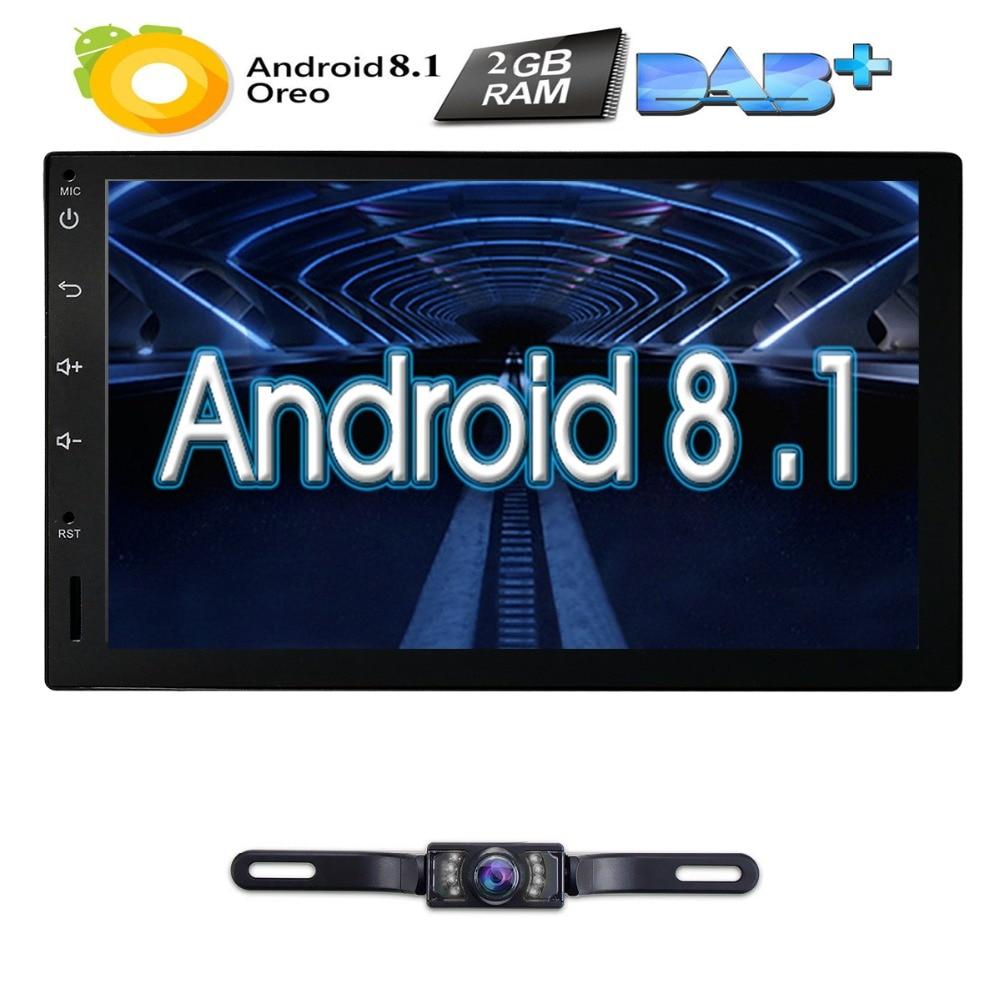 Quad Core Pure Android 8.1 Auto Radio Car NO DVD Player Car PC Tablet Double 2din 7'' GPS Navigation Head Unit Bluetooth SWC TV
