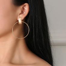 53990a4eb 8SEASONS Punk Style Stud Earrings Ear Post Round Circle Alloy Metal 2018  New Fashion Trendy Jewelry for Women Hyperbole 1 Pair