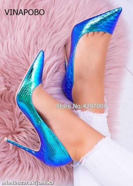 Vinapobo/осенние новые модные подушечки для маникюра; Серебристые свадебные туфли; большие размеры 35-43; пикантные туфли-лодочки на высоком каблуке с острым носком; женская обувь