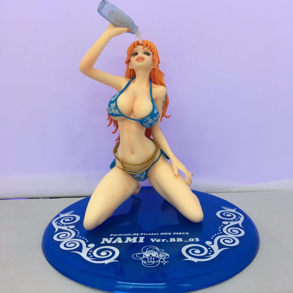Anime One Piece Portrait Of Pirates POP Nami Ver. BB-03 Sexy PVC Action Figure Collectible Model Toys Doll 15cm 3 colors