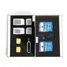 Новый Организатор мешок двойной слой хранения металла Подарок Способа защиты карты памяти СИМ карты коробка с пакетом dropshipping