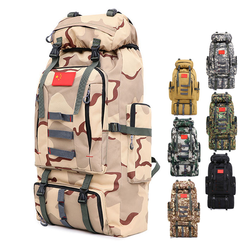 80L Large Capacity Men's Military Backpack Multifunction Waterproof Oxford Hike Camp Backpacks Wear-resisting Travel Duffle