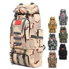 80L Large Capacity Mens Military Backpack Multifunction Waterproof Oxford Hike Camp Backpacks Wear resisting Travel Duffle