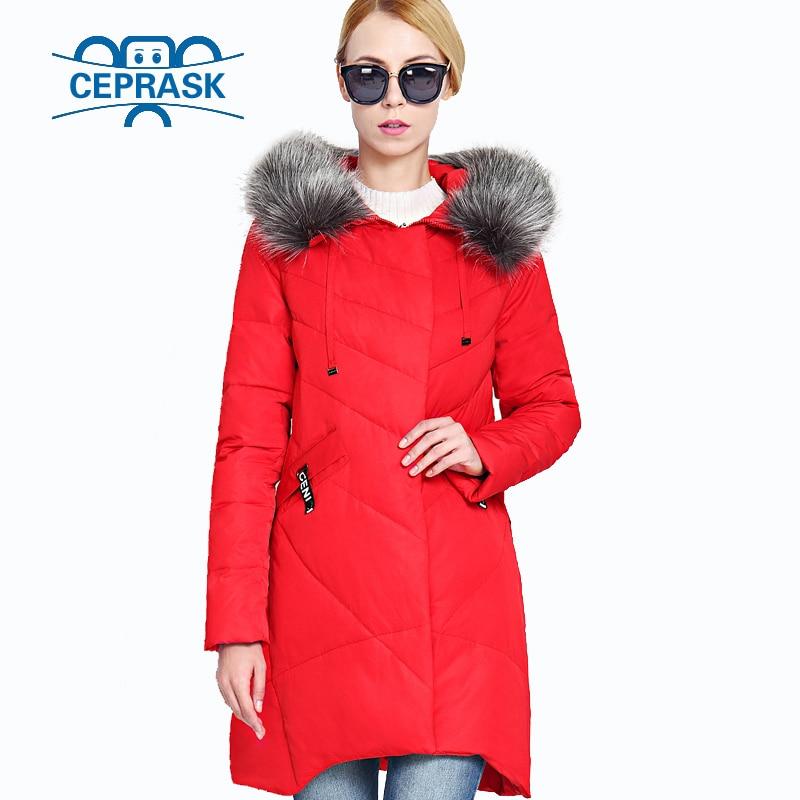 2019 New Winter Women's Coat Plus Size Hooded Fashion Warm Women Down Jacket High-quality Biological-Down Female Parkas Ceprask