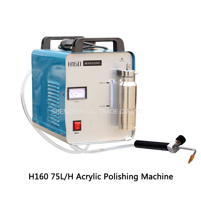 Free shipping by DHL 220V H160 acrylic flame polishing Electric Grinder 75L/H crystal Oxygen Hydrogen polisher machine