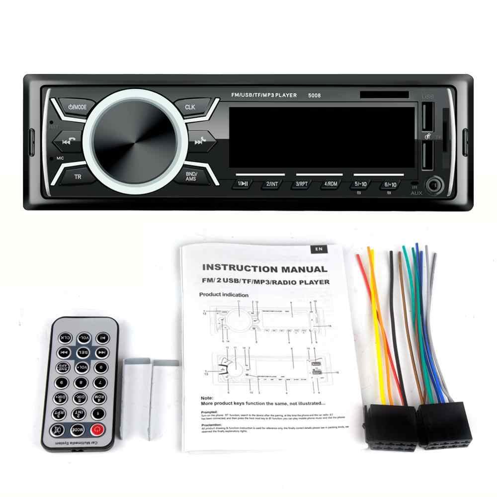 Автомобильный Автомагнитола В 12 в Bluetooth автомобильный стерео в-тире 1 Din FM Aux вход приемник SD USB MP3 MMC WMA автомобильный Радио плеер