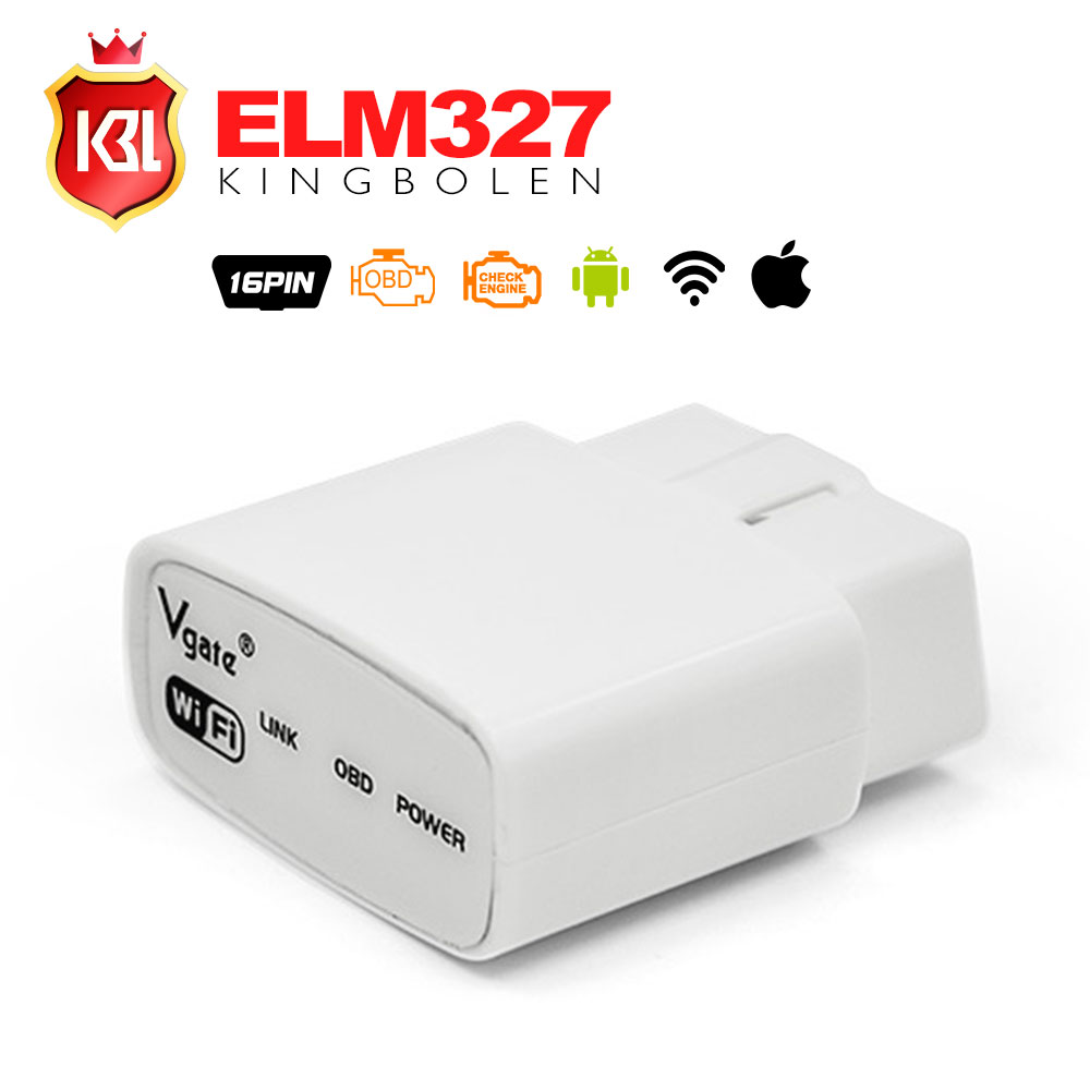 2017 Free Shipping ELM327 Wifi Original Vgate iCar elm327 elm 327 WIFI OBDII OBD2 For Android PC iPhone iPad Car