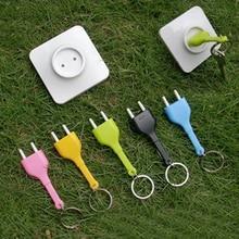 keys holder wall home Unplug Key Ring Unplug Keychain Novelty Gift