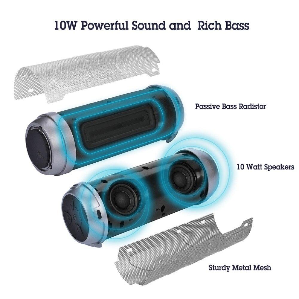 Avantree Portable Bluetooth Bike Speaker With Bicycle Mount & SD Card Slot, 10W Powerful Enhanced Bass & Wireless NFC Pairing