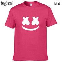 c91e4c005a Fengfancool Brand Summerwomen Men T Shirt Short Sleeve Cotton Marshmallow  Face Men T Shirts Casual Hip. Fengfancool Summerwomen marki mężczyźni T  Shirt Z ...